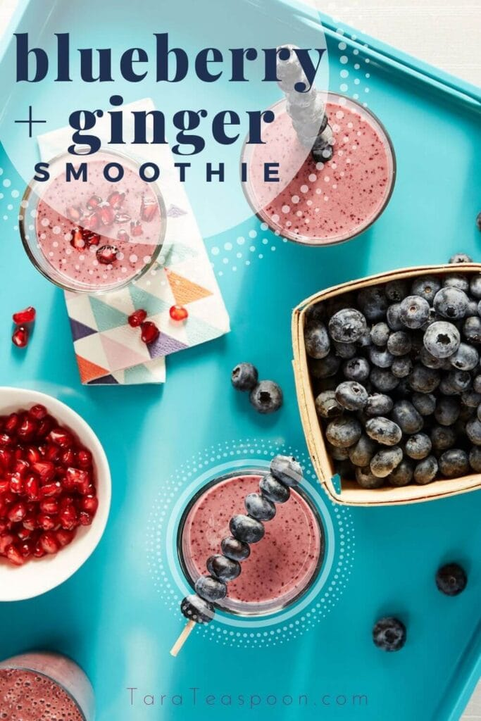 blueberry ginger smoothie pin