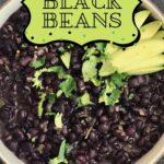 creamy black beans pin