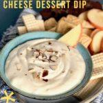 maple almond cream cheese dessert dip pin