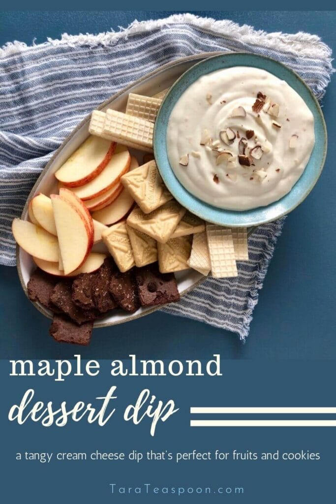 maple almond dessert dip pin