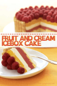 fruit and cream icebox cake pin