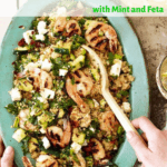 grilled shrimp and zucchini couscous pin