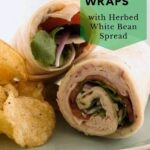 healthy turkey wraps pin image close up 1