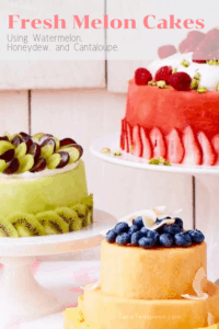 Fresh Melon Cake is easy to make