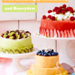 Make summer cakes from fresh melon