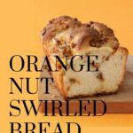 swirled orange nut bread pin