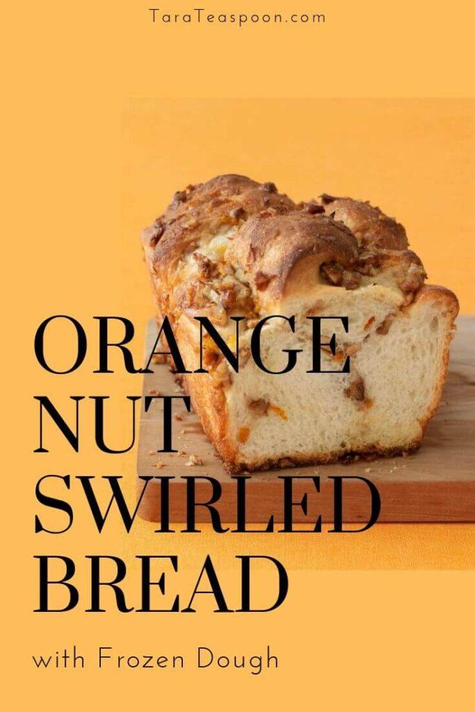 swirled orange nut bread pin