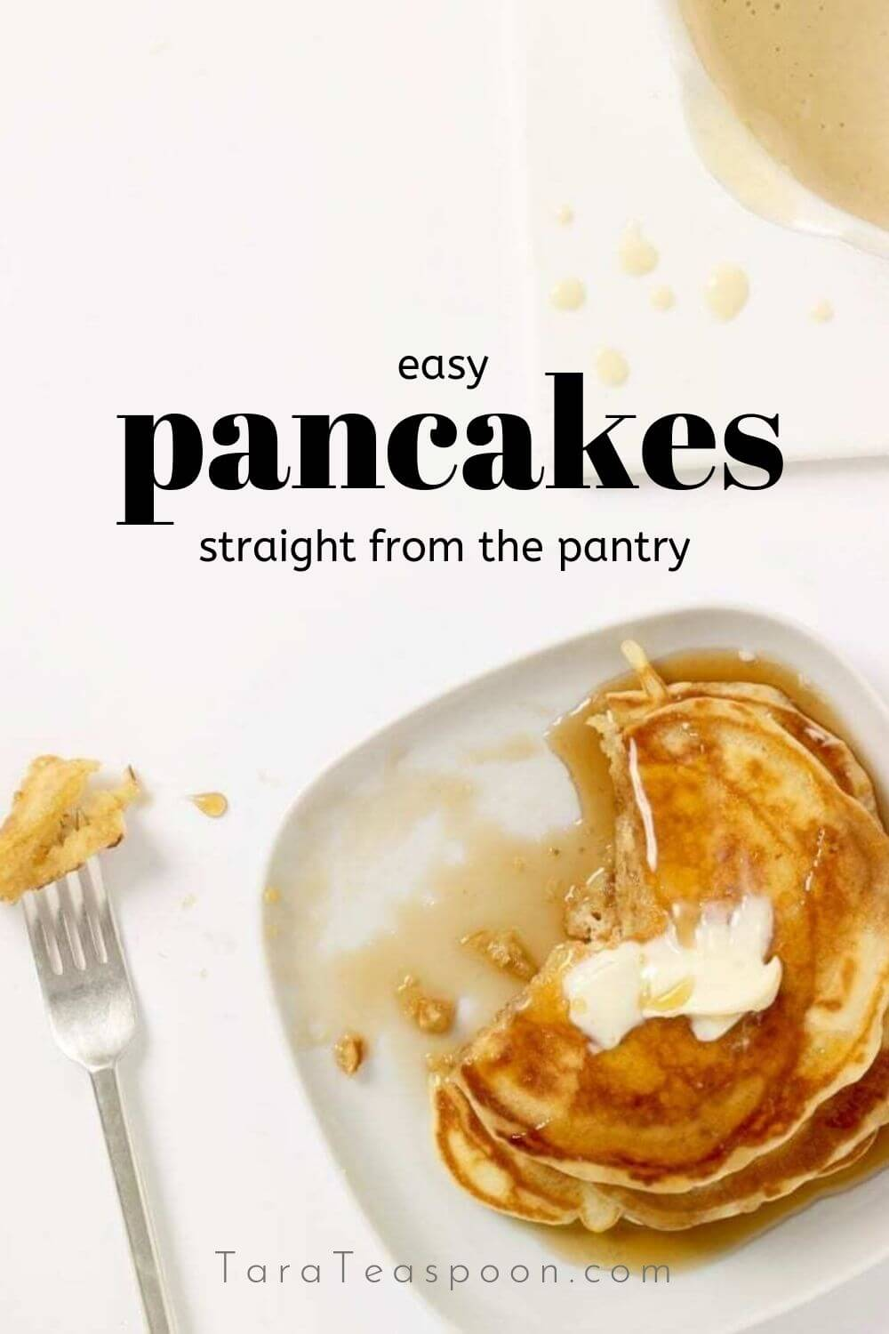 pin for easy pancakes from the pantry