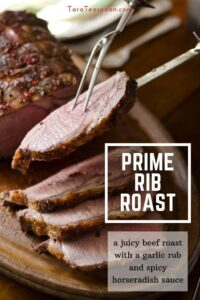 Prime rib roast slicing with details