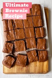 ultimate brownie recipe pin