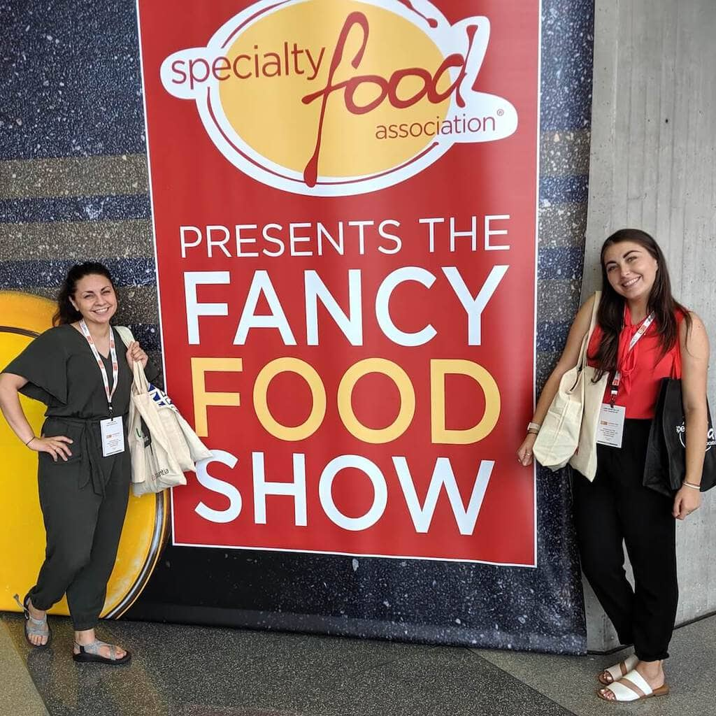 the interns at the fancy food show