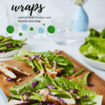 lettuce wraps with creamy dressing pin