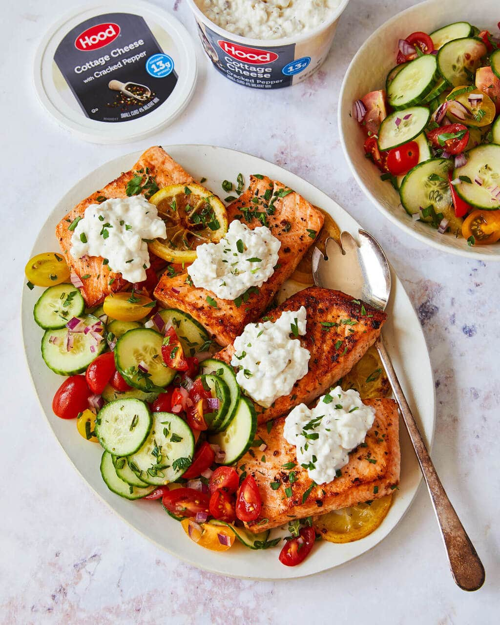 Strange Lemon Butter Salmon Recipe With Cucumber Salad Home Interior And Landscaping Palasignezvosmurscom