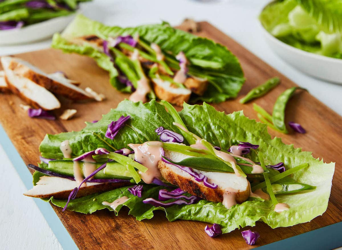 chicken lettuce wraps with dressing
