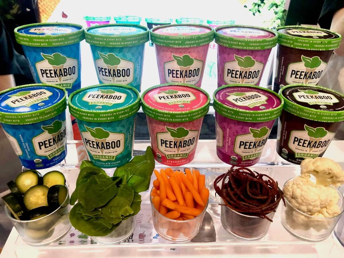 vegetable-infused ice creams that have a serving per pint!