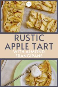 rustic apple tart recipe pin image