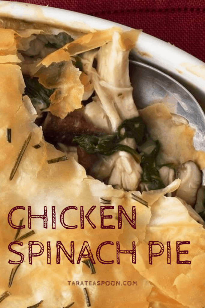 Chicken Spinach Pie with Mushrooms as featured in Ladies Home Journal