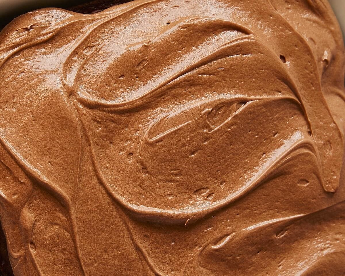 Close up of Extra Rich Milk Chocolate Frosting