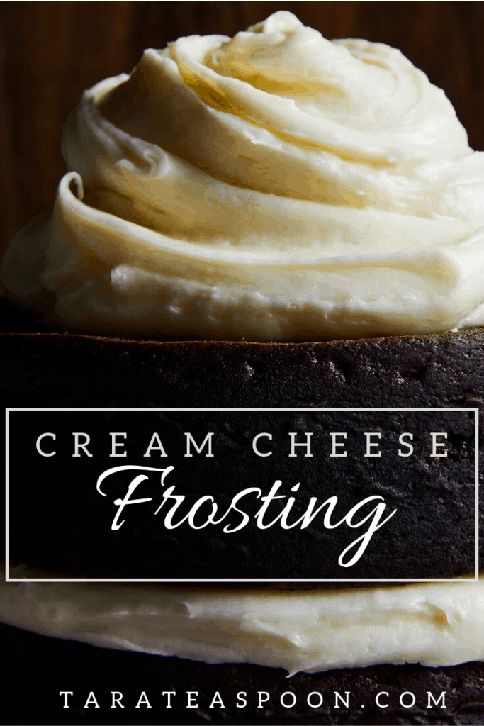 simple cream cheese frosting on chocolate cupcake