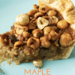 Maple Caramel Pie with Hazelnut