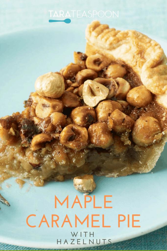 Maple Caramel Pie with Hazelnut