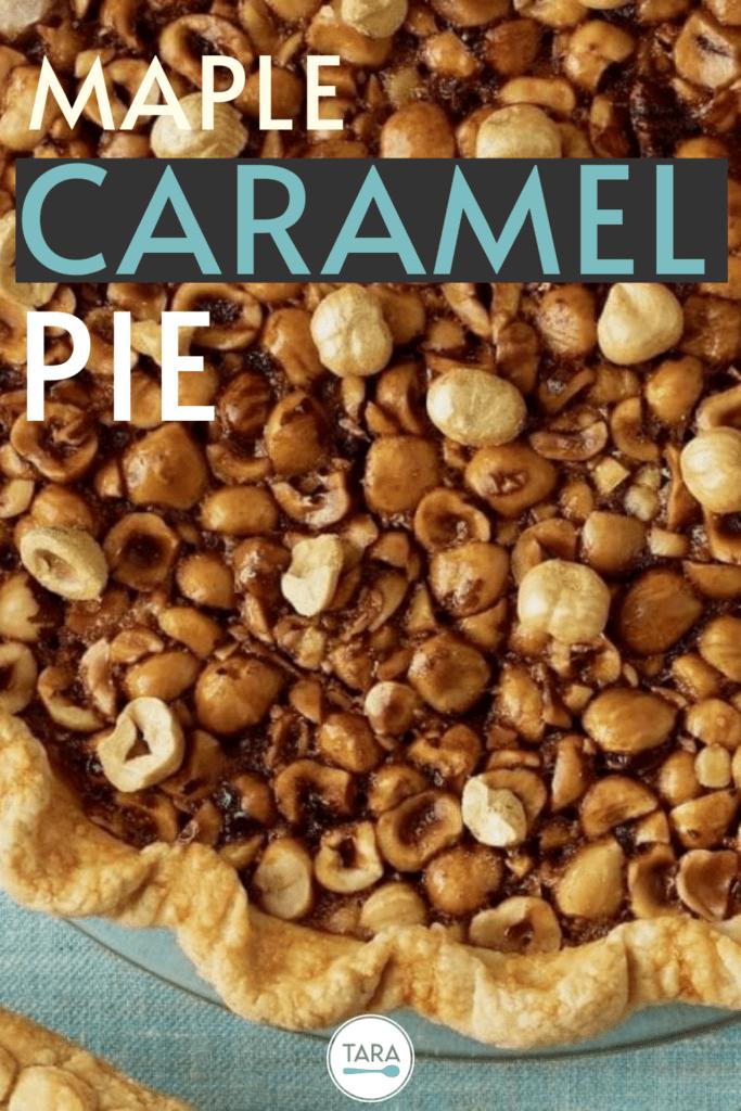 maple caramel pie with hazelnuts pin 2