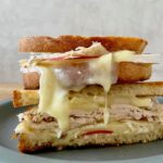 melty gourmet grilled cheese with brie and apple