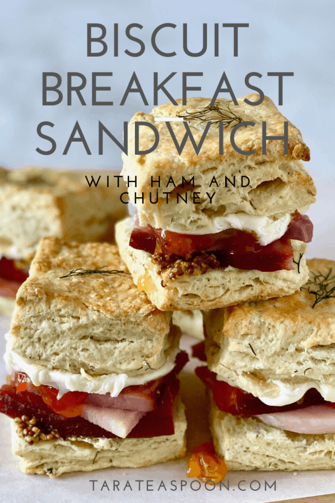 Ham Biscuit Breakfast Sandwich