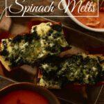 open faced spinach melts sandwich pin