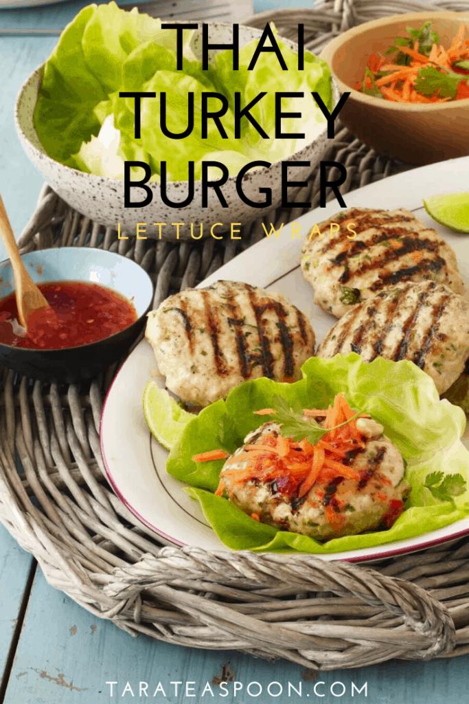 Thai Turkey Burger in Lettuce Wrap
