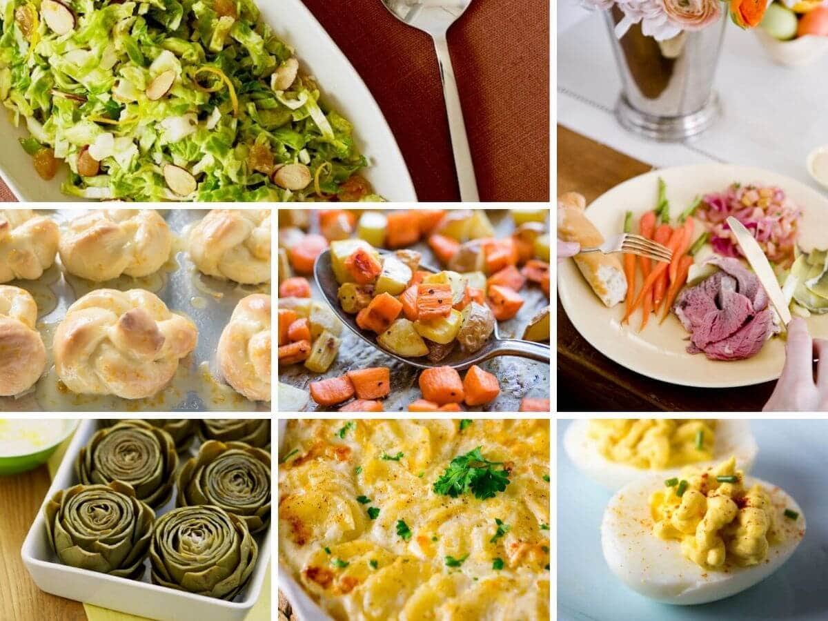 easter sides collage