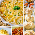 Pinterest Pin collage image showing different Easter Side dishes