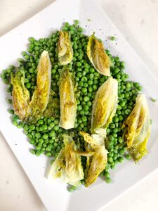 Buttered & Charred Lettuce with Peas
