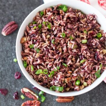 Instant Pot Wild Rice with Dried Cranberries and Pecans