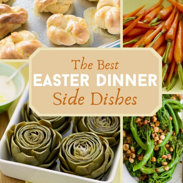 easter side dishes collage