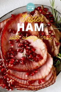 Holiday Ham with Pomegranate and Brown Sugar Glaze