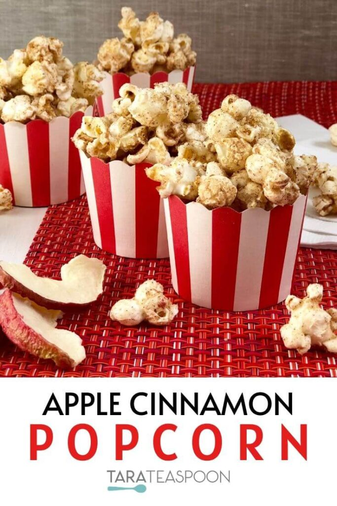 Apple Cinnamon Popcorn Pinterest pin