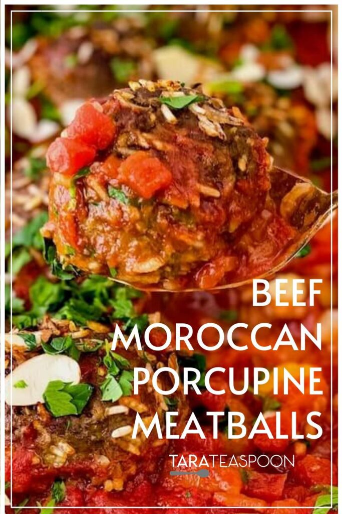 beef moroccan porcupine meatballs pin