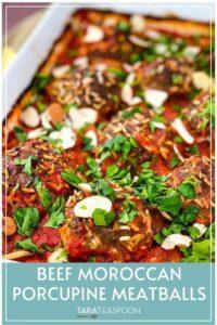 Beef Moroccan Porcupine Meatballs Pinterest Pin
