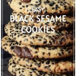 Black Sesame Chocolate Chip Cookies Pinterest Pin