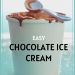 Pint of Chocolate Ice Cream with spoon Pinterest Pin
