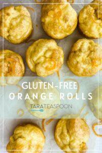 gluten free orange rolls made like muffins