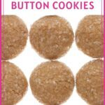 Ginger spice button cookies pinterest pin