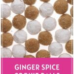 Ginger spice cookie balls pinterest pin