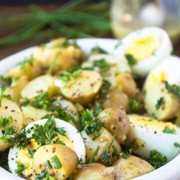 NEW POTATO SALAD WITH EGGS AND MUSTARD