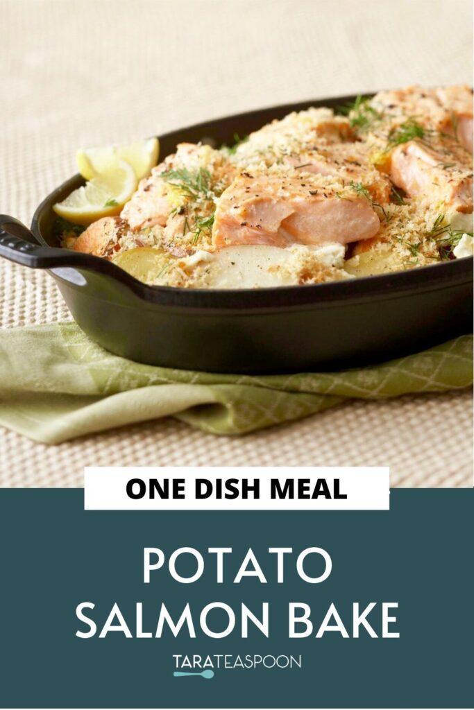 potato salmon bake one dish meal pin