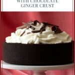 Spiced Cheesecake with Chocolate Ginger Crust Pinterest Pin
