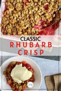 simple rhubarb crisp pin