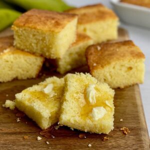 gluten free cornbread with honey and butter