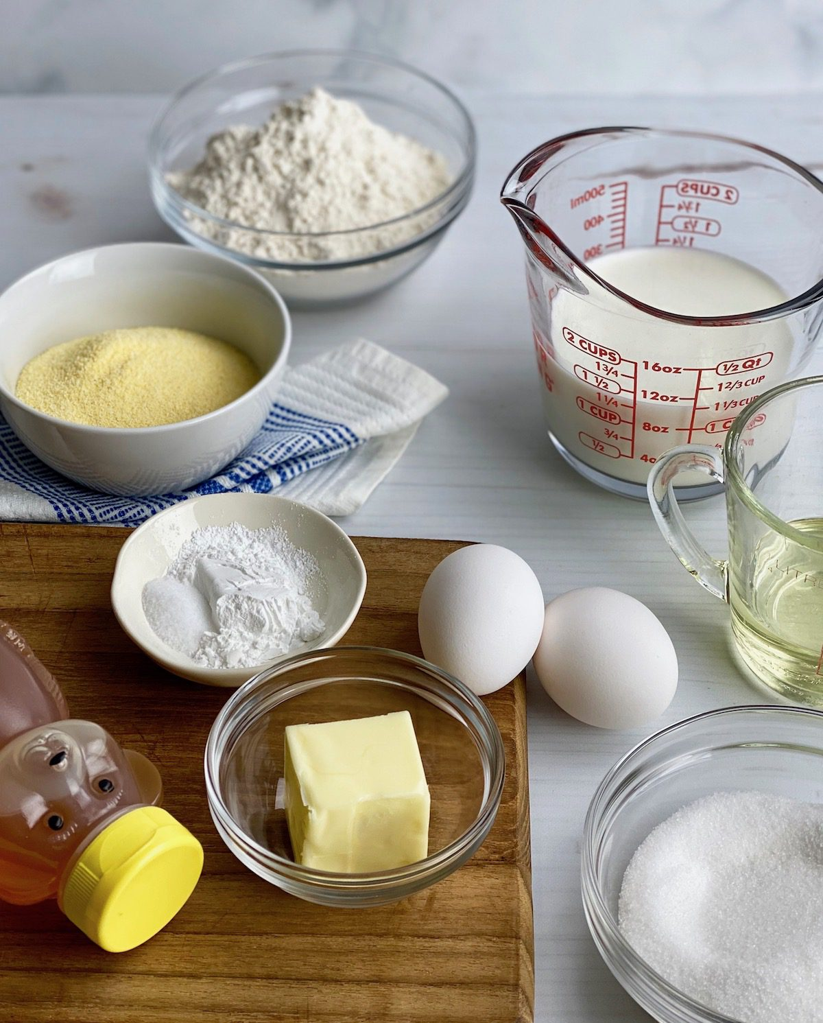 ingredients for homemade cornbread recipe